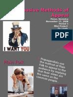 Persuasive Methods of Appeal
