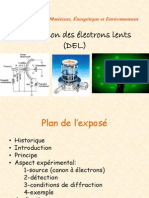 Diffraction Des Electrons Lents