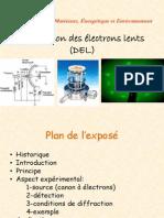 Diffraction Des Electrons Lents