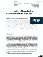 Suzanne L. Jones and Frank N. von Hippel- The Question of Pure Fusion Explosions Under the CTBT