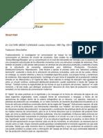 Stuart Hall - Codificar y Decodificar