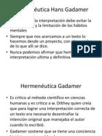 Hermenéutica Hans Gadamer