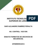 Ensayo Formatos de Archivos de Secuencias