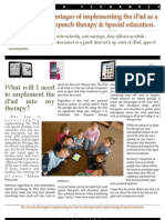 The Cost and Advantages of Implementing the iPad as a Learning Tool for Speech Therapy & Special Education