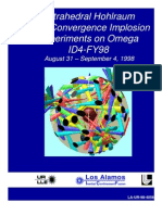 Tetrahedral Hohlraum High-Convergence Implosion Experiments on Omega ID4-FY98