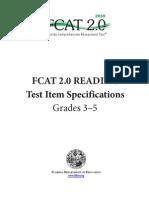 FCAT 2.0_Item Specs