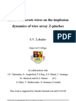 S.V. Lebedev- Effect of discrete wires on the implosion dynamics of wire array Z-pinches