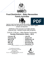 HAND UP 2012 Distribution Dates Flyer