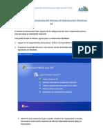 Manual para la instalación del SI WindowsXP