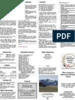 Montana Range Days Brochure for Year 2011