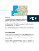 Carta topográfica escala 1