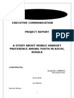 A Study About Mobile Handset Preference Among Youth in Kochi Project Report
