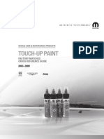 2009 Touch Up Paint Guide