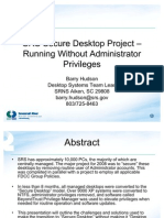 SRS Secure Desktop Project-Running Without Admin-Barry Hudson