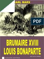 Karl Marx - Brumaire XVIII Louis Bonaparte