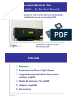 Sintetizadores Digitales Directos, Transmisor FM- Presentación Examen