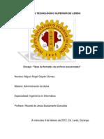 Formatos de Archivos Secuenciales