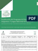 Dosificación del Programa de Lengua Adicional al Español IV Semestre 2012-A