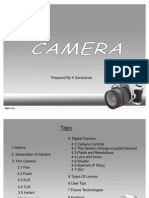 History Of Camera by K Saravanan