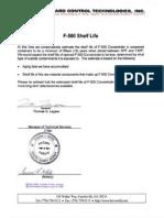 pd f5 am f500 shelf life certificate