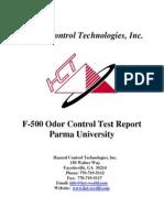tr f5 am f-500 odor control test report parma university v1
