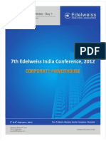 India Post Conference Notes Day 1 Feb 12 EDEL