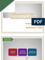 Exposición Relajantes Musculares Anestesiología