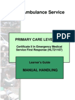 Manual Handling Learner Guide
