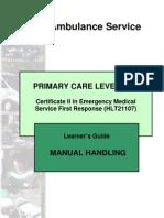 Manual Handling Learner Guide