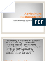 Agriculture Sustainability
