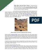 Kerusakan Lingkungan Hidup Akibat Alam Dan Faktor Manusia