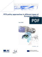 RTD policy approaches in different types of European regions.