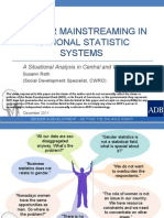 Gender Mainstreaming in National Statistics Systems