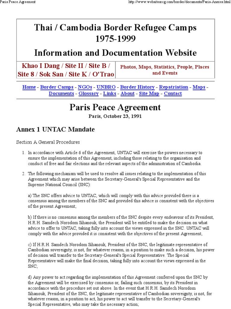 Paris Peace Agreement Elections Voting