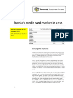 Russian Credit Card Market in 2011