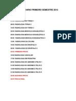 CALENDÁRIO 2012 / PRIMEIRO SEMESTRE