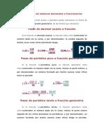 Conversión de números decimales a fraccionarios