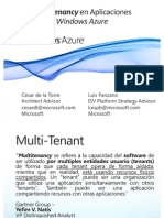 2 - Multitenancy en Aplicaciones Windows Azure