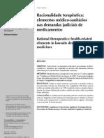 Racionalidade Terapeutica e Demandas Judiciais de Medicamentos
