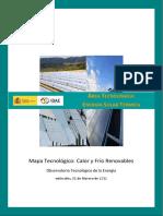 MAPA TECNOLÓGICO ENERGÍA SOLAR TÉRMICA