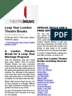 London Breaks - Short Weekend Romantic and Theatre