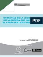Garantia de la legislación salvadoreña que inciden en el caracter laico del estado