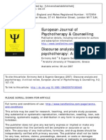 Discourse Analysis in Psychotherapy