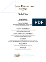 Andrea Restaurant Velas Vallarta Tuesday Night Menu