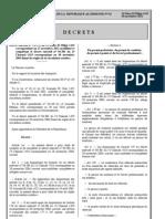 Décret exécutif 11-376 modifiant et complétant de décret exécutif 05-381 fixant les règles de la circulation routière