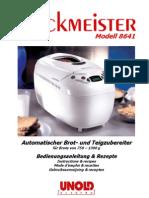 8641 Backmeister Deutsch