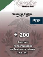 200 questões REGIMENTO INTERNO