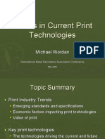 Trends in Current Print Technologies