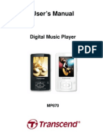 Transend Music Player Manual