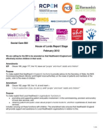 Joint Briefing - Health and Social Care Bill Report